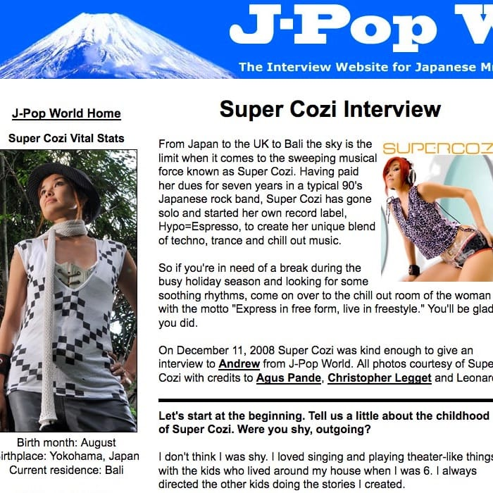 J-POP World interview
